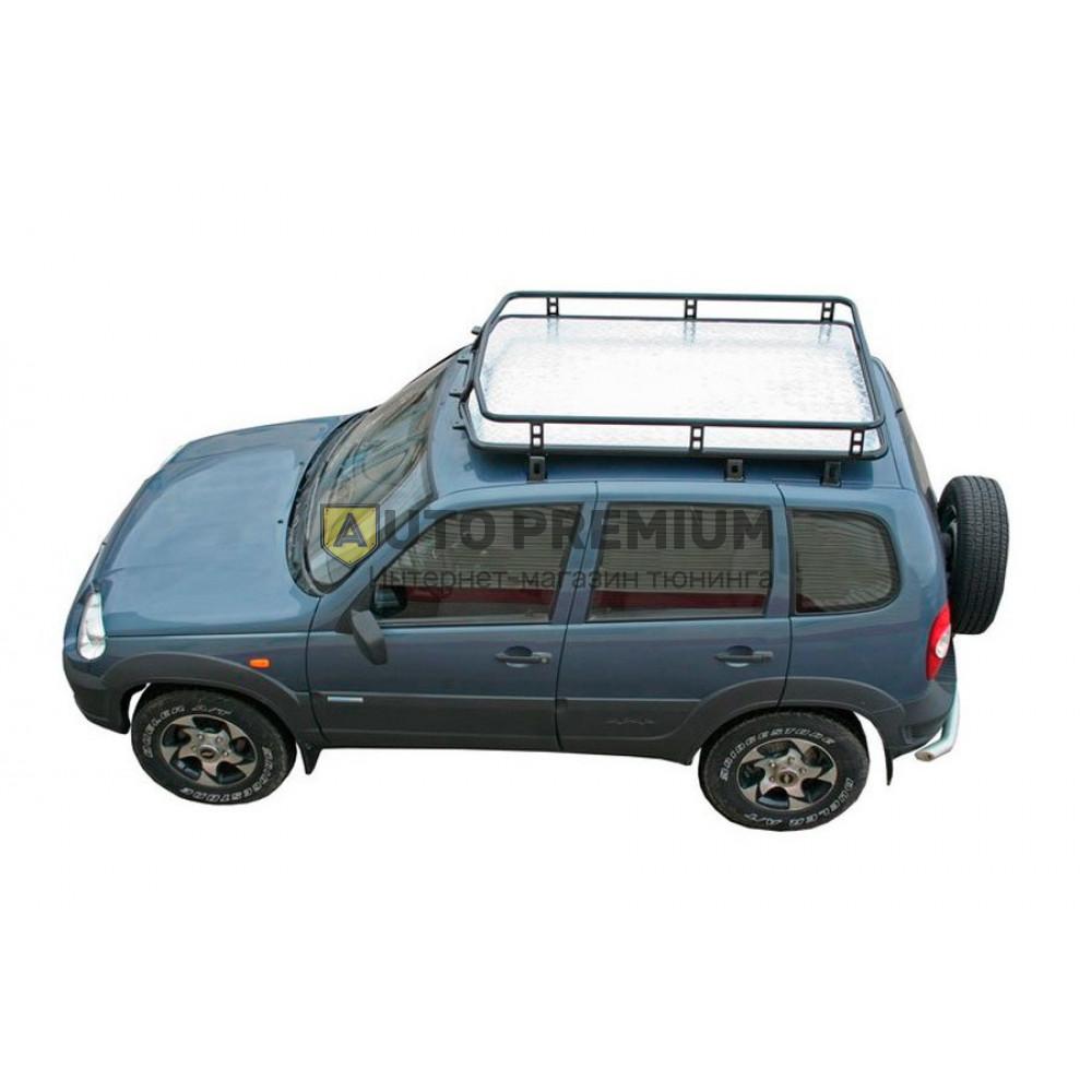 Багажник экспедиционный Трофи с алюминиевым листом на Шевроле Нива